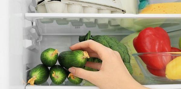 Огурцы в холодильнике