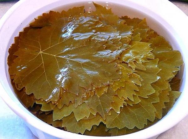 Бланшировка листьев